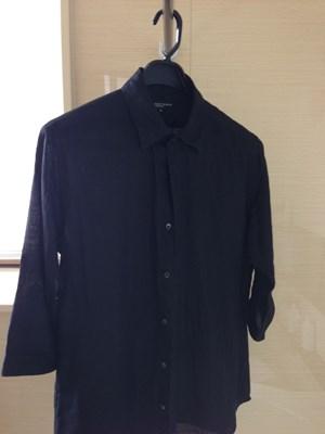 麻100% 黒シャツの洗濯